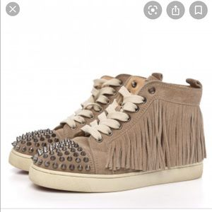 Christian Louboutin Coachalita Fringe Spike Shoes